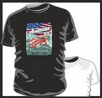 KOOLART AMERICAN MUSCLE CAR Design for Ford GT Super Car mens or ladyfit t-shirt